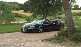 Bugatti Cristiano Ronaldo Cristiano Ronaldo Shows Bugatti Veyron As Real Madrid