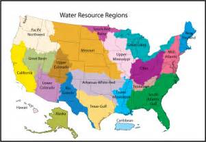 us map divided into 3 regions water resource region
