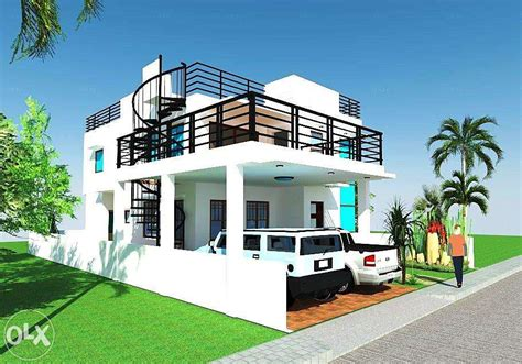 2 Storey House Design With Roof Deck Ideas Design A House Interior Exterior