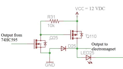 decoupling capacitor shift register solenoid switching damaging mosfet transistor electrical engineering stack exchange