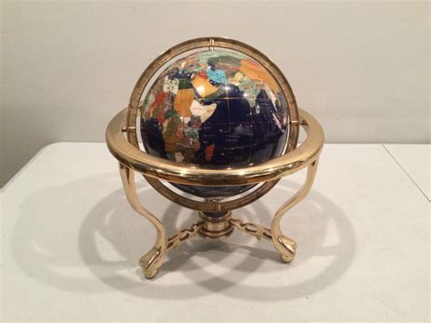 metal globe table l table top semi precious stone world globe with metal stand