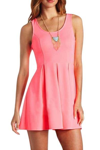 Dress Pink Tri tri cutout back a line pink tanks dress