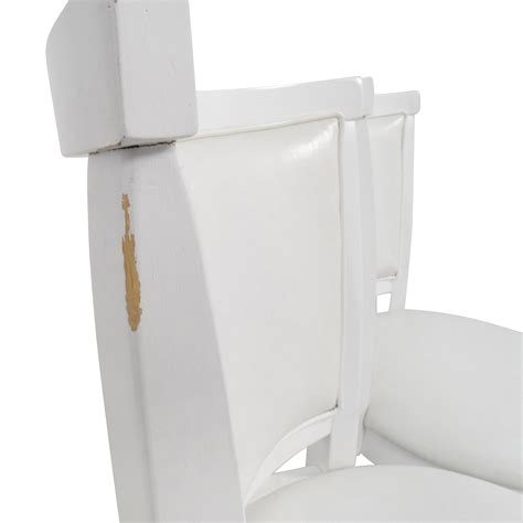 white counter height swivel chairs 90 corliving corliving white leatherette swivel