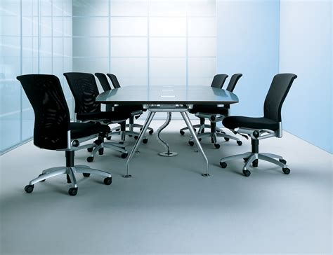black modern metal conference table ambience dor 233