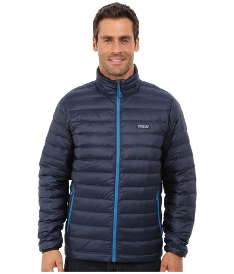 Jaket Sweater lyst patagonia sweater jacket in blue for