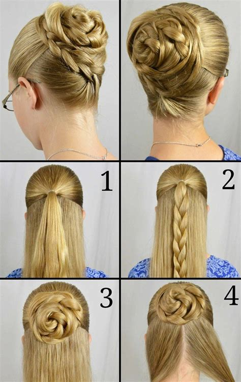 how to do updo hairstyles step by step easy updos for long hair step by step to do at home in