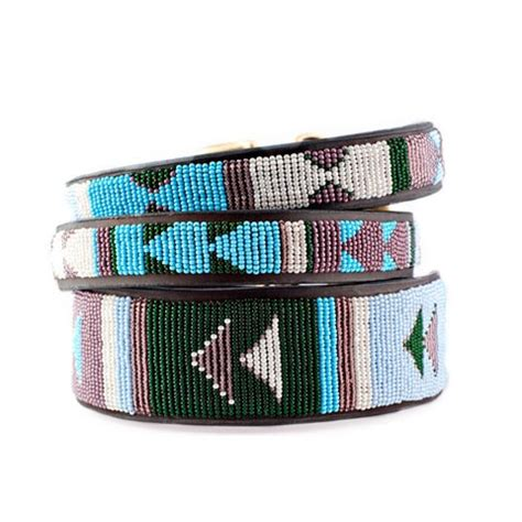 Handmade Pet Collars - beaded collar in jacaranda collection