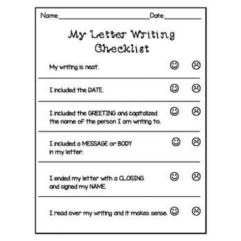 writers workshop letter writing templates more grade 1 2