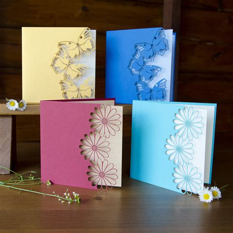 Card Handmade - handcrafted cards beautiful color butterfly or