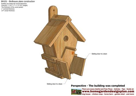 how to design house plan home garden plans bh101 bird house plans construction bird house design how to