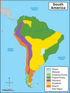 rainforest map south america south american biomes