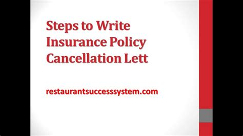 Letter To Cancel Health Insurance Policy steps to write insurance policy cancellation letter 2016