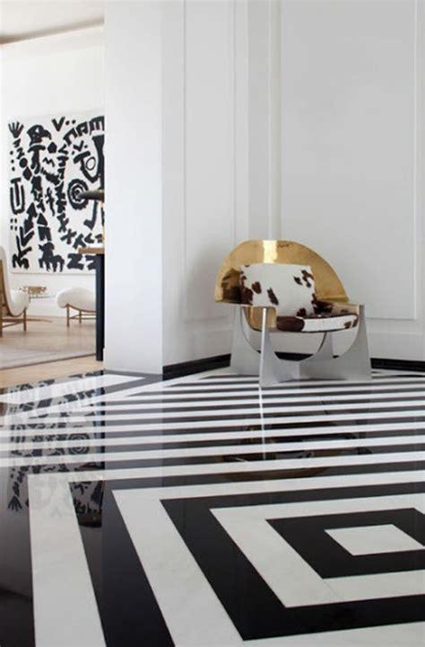 Kelly Wearstler black and white floor   Simplified Bee
