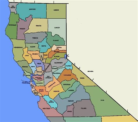 california map counties and cities file norcal counties map jpg wikimedia commons