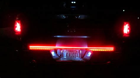 best led tailgate light bar recon xtreme tailgate light bar 26416x in action youtube