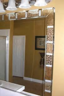 border for bathroom mirror bathroom mirrors sans soucie art glass
