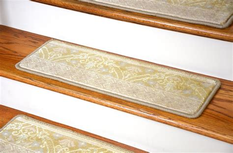 Bantalan Anti Selip Motif Chanel stair stair design with brown wooden treads covers and white risers also motif wool