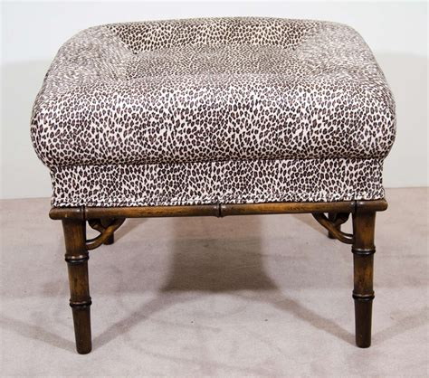 Leopard Print Stool by Pair Of Mid Century Stools In Leopard Print At 1stdibs