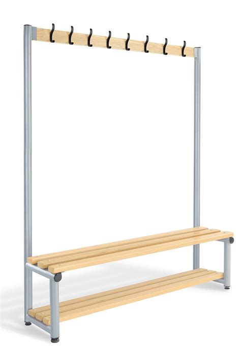 bench with storage and coat hooks single coat rack bench with storage shelf cl 1000mm