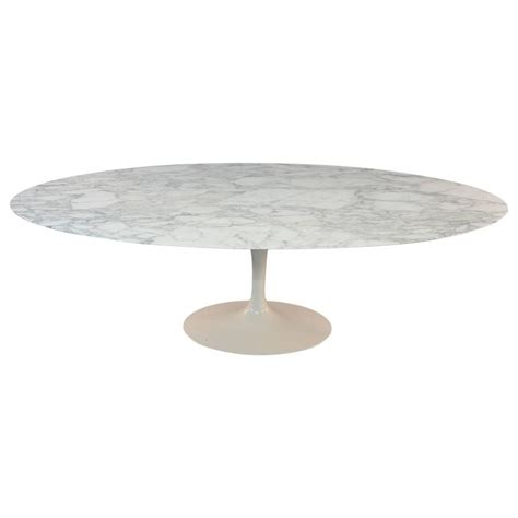 eero saarinen marble top oval dining table for knoll at