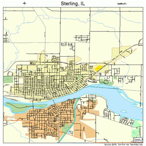 Sterling Il sterling illinois map 1772546