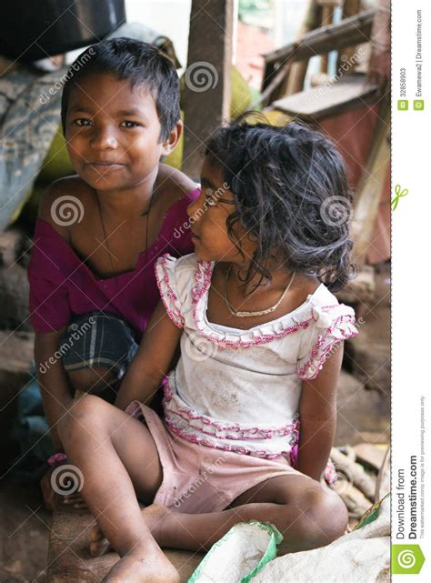 Poor Tribal Children Of India Editorial Stock Photo