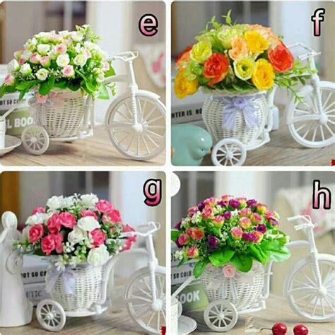 Vas Bunga Rotan Shaby Chic bunga hiasan meja desainrumahid