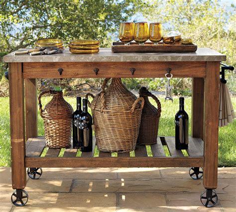 build a potting bench or garden buffet table pottery barn