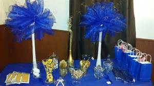 blue and gold baby shower decorations royal blue and gold baby shower ideas