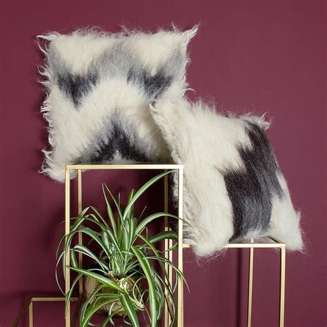 handmade combed wool cushion audenza