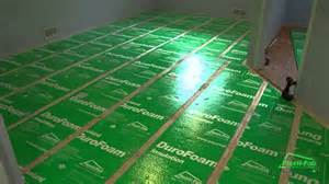 Basement Floor Insulation How To Insulate A Basement Floor With Plasti Fab S Durofoam