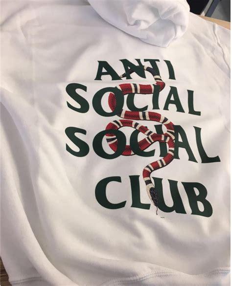 Hoodie Assc 8 assc anti social social club x gucci snake custom