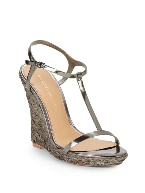 dress wedge sandals badgley mischka afton iii t wedge dress sandals in