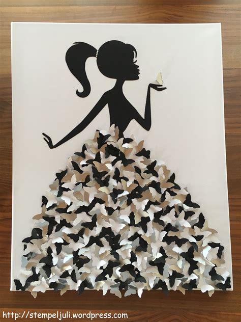 Basteln Leinwand Gestalten by Wandbild Schmetterlingskleid Zuk 252 Nftige Projekte