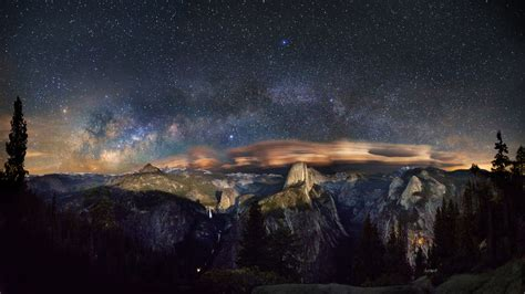 dark os x wallpaper milky way over yosemite park by vndesign on deviantart
