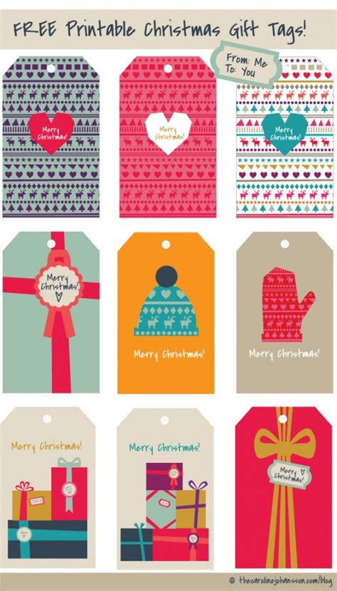 freebie printable christmas gift tags