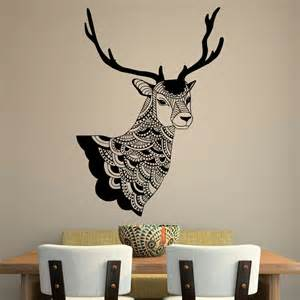 Deer Stickers For Wall Deer Wall Decal Country Wall Decals Vinyl By Fabwalldecals