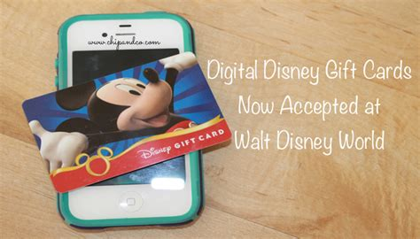 Walt Disney World Gift Card - digital disney gift cards now accepted at walt disney world