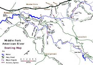 america river map american river map
