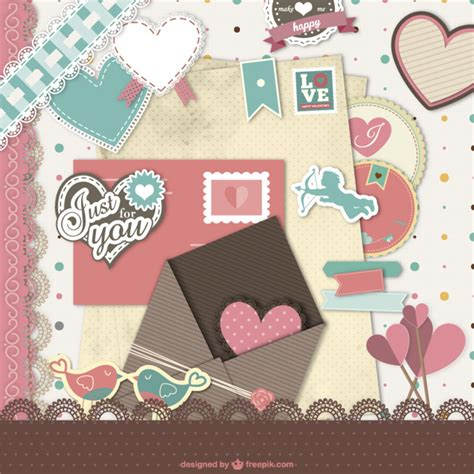 scrapbook layout software free valentine s scrapbook vector free download