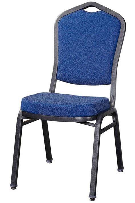 Premium Chairs premium metal stack chair silver vein frame with blue