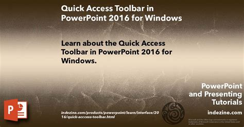 powerpoint quick tutorial quick access toolbar in powerpoint 2016 for windows