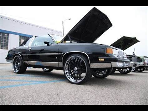 blacked out oldsmobile cutlass on 24 irocs 1986 cutlass supreme pro touring doovi