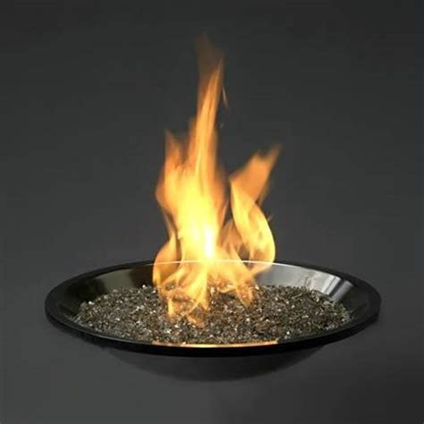 Glass Burning Pit stainless steel firepit burner with color glass gems burner only