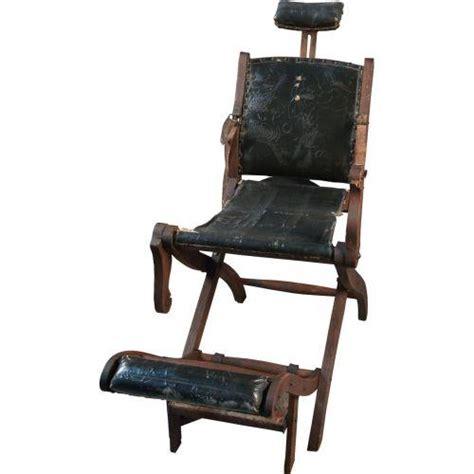 Folding Barber Chair by Folding Wooden Koken Barber Chair