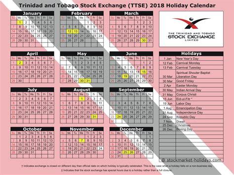 printable calendar 2016 trinidad trinidad and tobago stock exchange 2018 2019 holidays