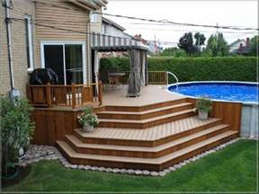 17 best ideas about above ground pool decks on