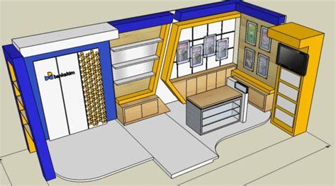 cara desain booth pameran stan pameran bankaltim balikpapan gran senyiur