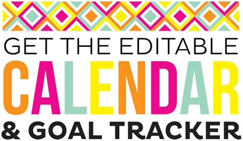 Calendar Goals 2017 Printable Monthly Calendar And Goal Sheets