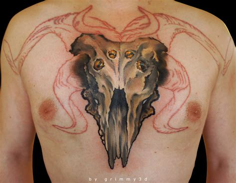 goat skull tattoo goat images designs